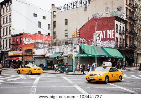 NEW YORK CITY, USA - CIRCA SEPTEMBER 2014: New York City canal street scene