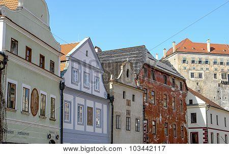 Photograph of ancient european buildings.