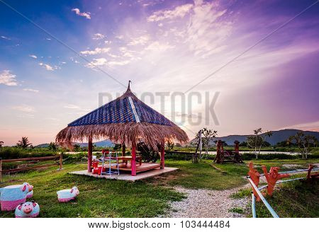 Beautiful Pavilion With Tatched