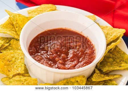 Jalapeno Tortilla Chips With Salsa Rojo