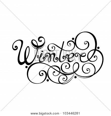 Vector Winter Hand Drawn Lettering
