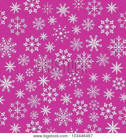 Noel pink wallpaper, snowflakes texture