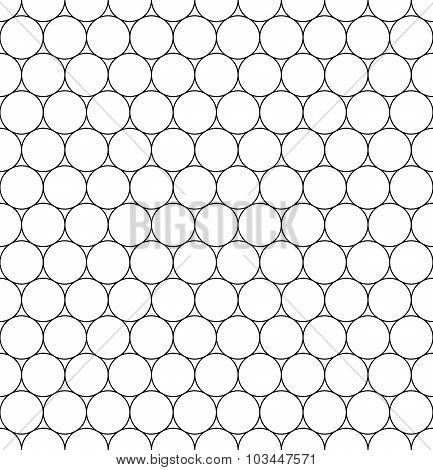 Vector modern seamless geometry pattern circles black and white