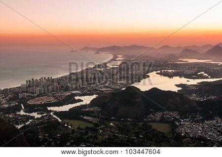 Sunset in Barra da Tijuca