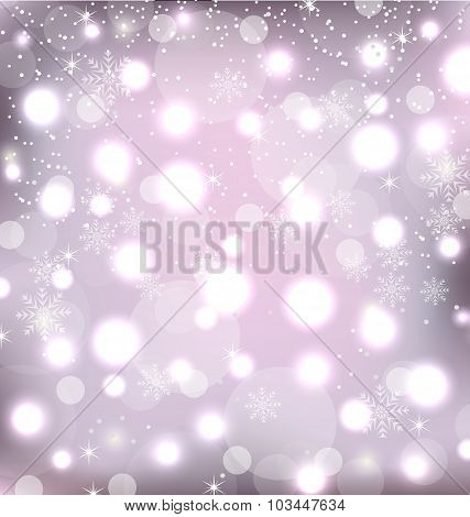 Glowing Luxury Background for Merry Christmas