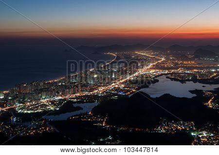 Barra da Tijuca at Night