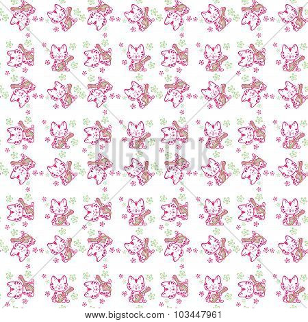Seamless Pattern  Cute Cats