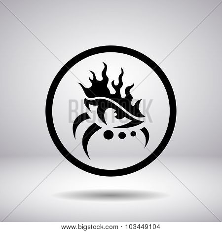 Silhouette In A Circle - Fire Eye