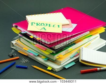 The Pile Of Business Documents; Project