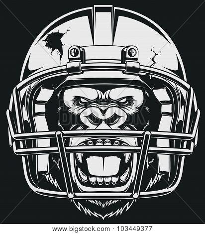 Aggressive gorilla
