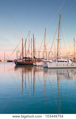 Alimos marina in Athens.