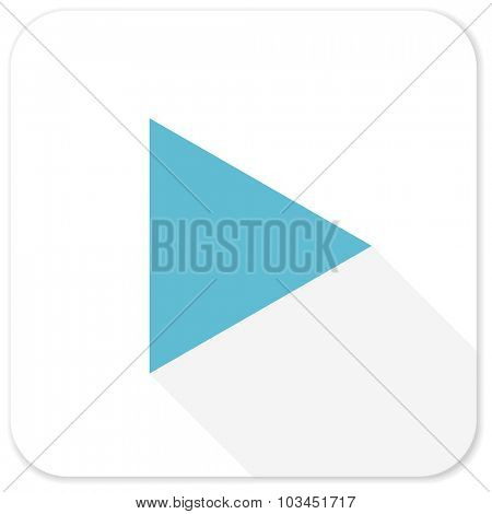 play blue flat icon