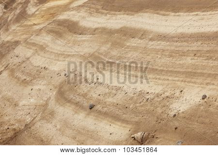 Ground Layers With Rocks In Perspective. Warm Tone