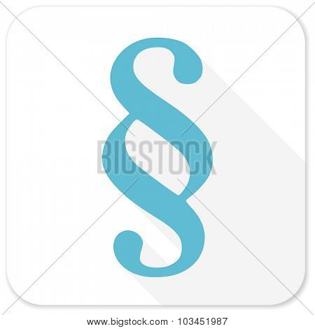 paragraph blue flat icon
