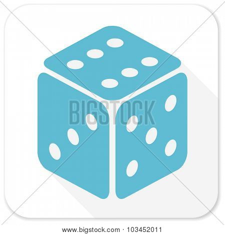game blue flat icon