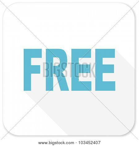 free blue flat icon