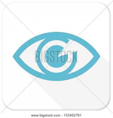 eye blue flat icon