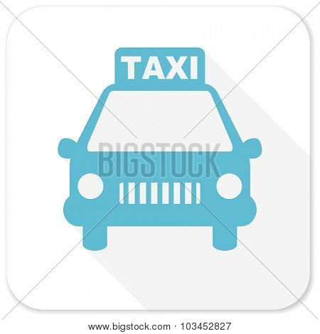 taxi blue flat icon