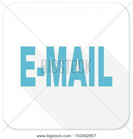 email blue flat icon