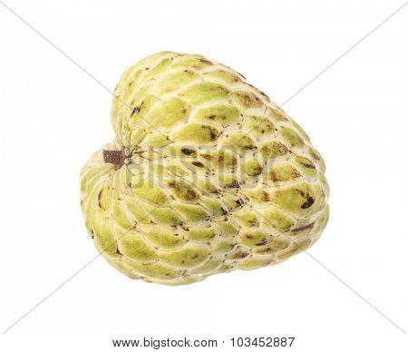 Sugar Apple (custard apple, Annona, sweetsop) on white background