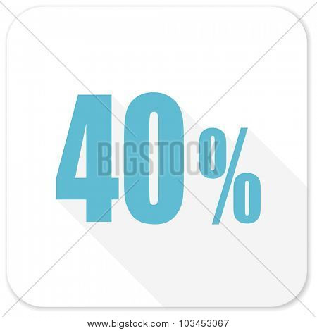 40 percent blue flat icon