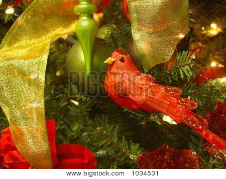 Red Songbird Ornament
