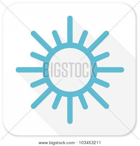 sun blue flat icon