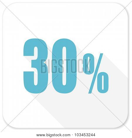 30 percent blue flat icon