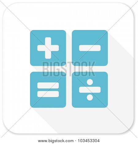 calculator blue flat icon