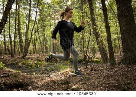 Athletic Woman Exercising Regularly