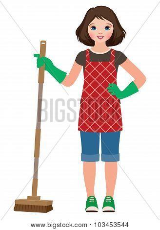 Little Girl Housewife