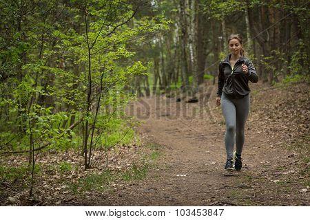 Pretty Sportswoman Jogging