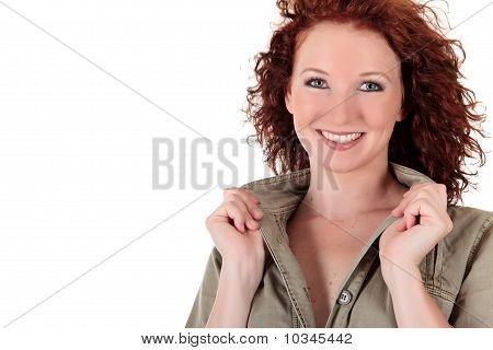 Attractive Red-haired Young Woman