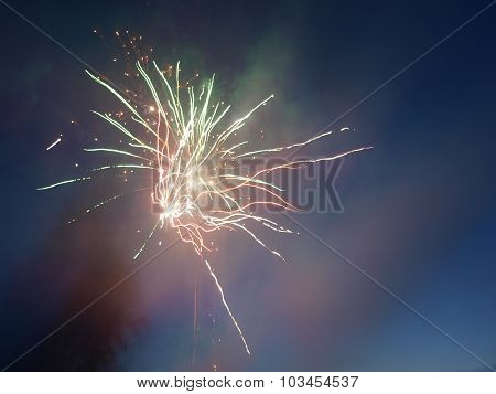 evening fireworks