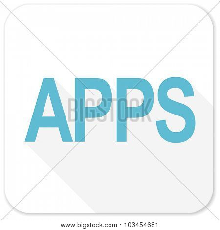 apps blue flat icon