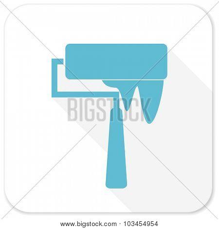 brush blue flat icon