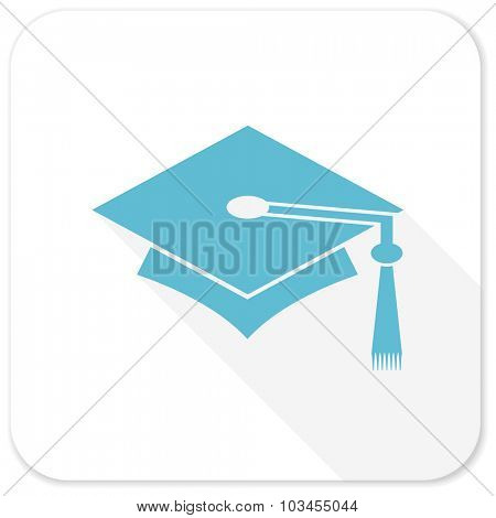 education blue flat icon