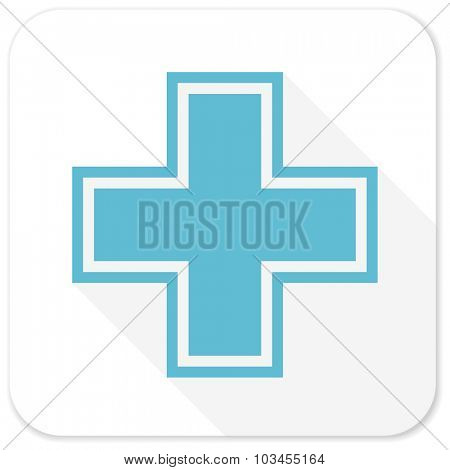 pharmacy blue flat icon
