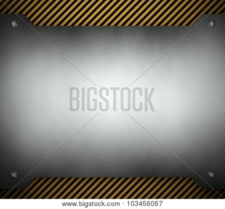 Steel Template With Copy Space Metal Background