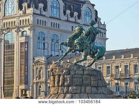 Monument To Bogdan Khmelnitsky Of Kiev.