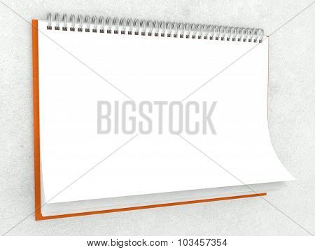 Paper Texture In Blank Wall Calendar