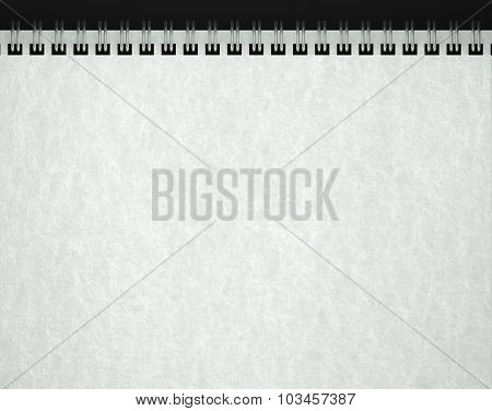 Open Blank Notebook, Paper Texture