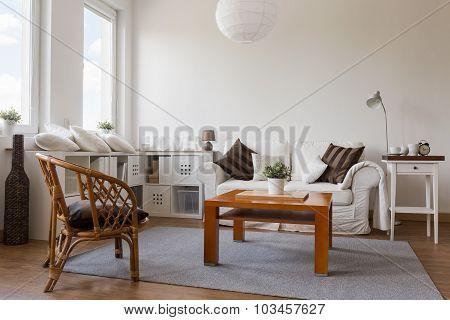 Cosy White Living Room