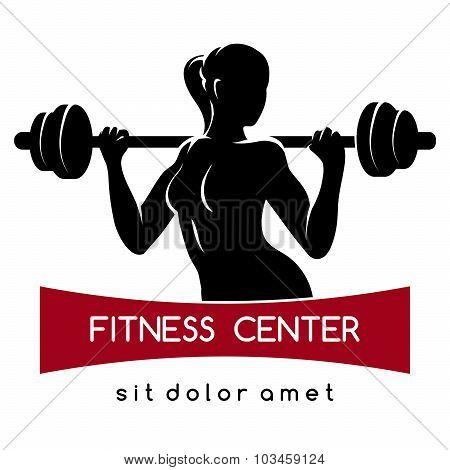 Fitness Center Or Gym Logo