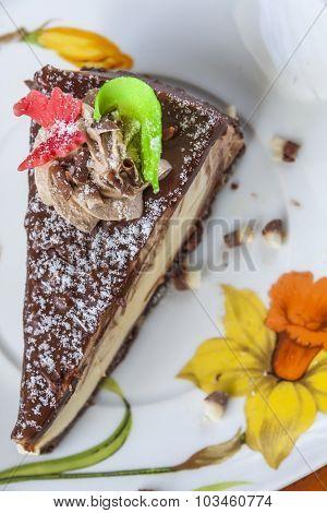 Cake Dessert On A Saucer