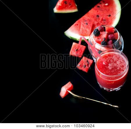 Summer Fruit Salad  Watermelon Flesh