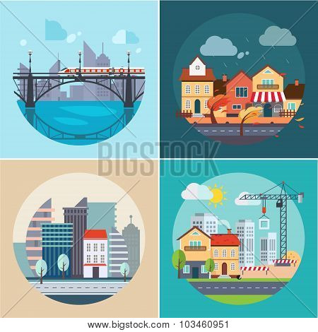 City and Town Landscapes, Buildings