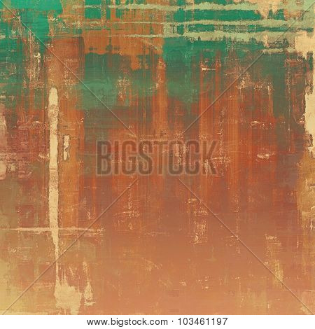 Old grunge antique texture. With different color patterns: yellow (beige); brown; gray; green