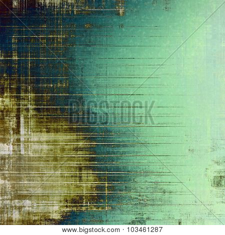 Colorful designed grunge background. With different color patterns: yellow (beige); brown; blue; green