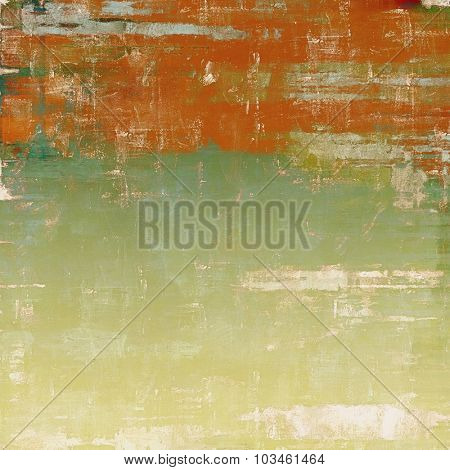 Vintage old texture for creative retro background. With different color patterns: yellow (beige); green; red (orange); cyan